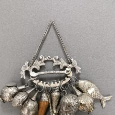 Antigüedades: AMULETO PENCA DE BALANGANDAN EN PLATA 900 RAGASTEN, BRASIL PP S. XX. Lote 228183436