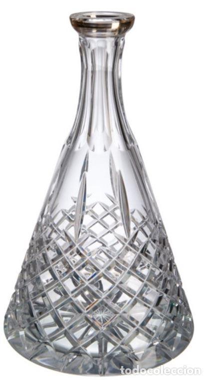 Antigüedades: Botella Blues con filo de oro Bohemia-Nuevo - Foto 2 - 228196325
