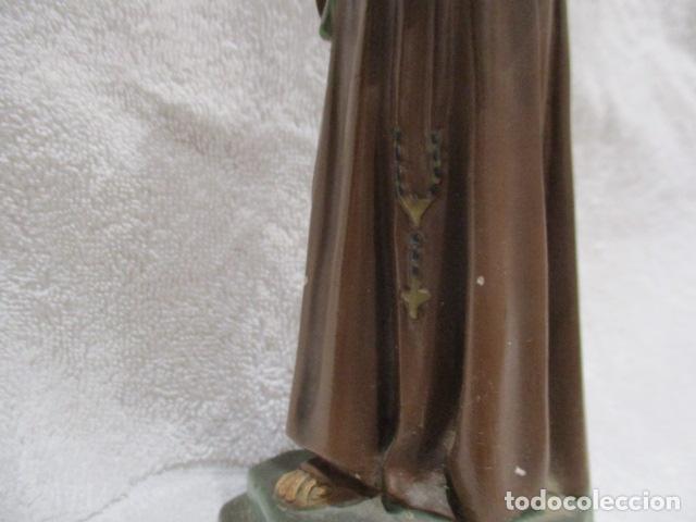Antigüedades: San Antonio de Padua - Yeso Policromado - 23 cm Altura - Foto 6 - 228229670