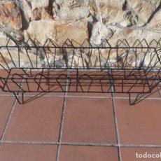 Antigüedades: JARDINERA DE METAL - REJA - MACETERO. Lote 228247700
