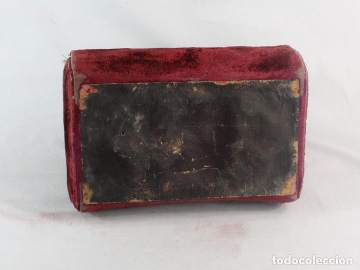 Antigüedades: Maletín en terciopelo, seda y herrajes. ca 1880 - 23x23x14cm - Foto 13 - 228268600