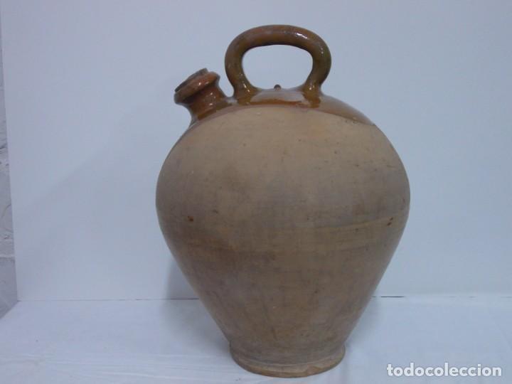 GRANDIOSO CANTARO CATALAN BARRO COCIDO- MEDIDA-BOTIJO-DOLL- (Antigüedades - Porcelanas y Cerámicas - Catalana)