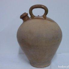 Antigüedades: GRANDIOSO CANTARO CATALAN BARRO COCIDO- MEDIDA-BOTIJO-DOLL-. Lote 228277560