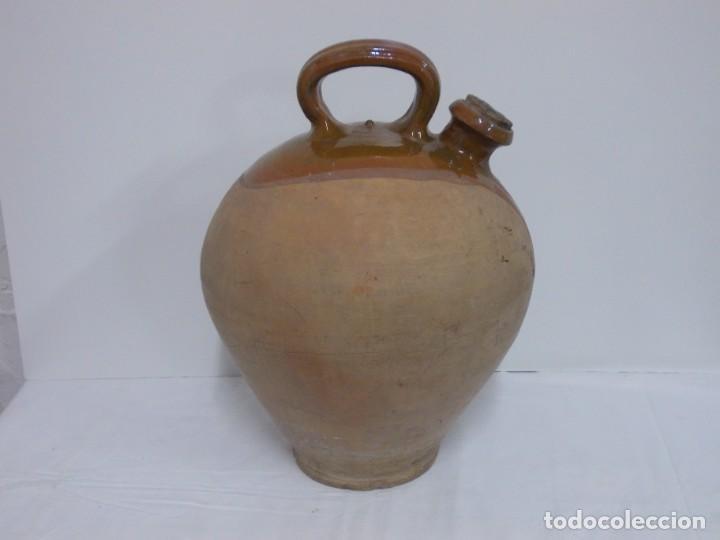 Antigüedades: GRANDIOSO CANTARO CATALAN BARRO COCIDO- MEDIDA-BOTIJO-DOLL- - Foto 2 - 228277560
