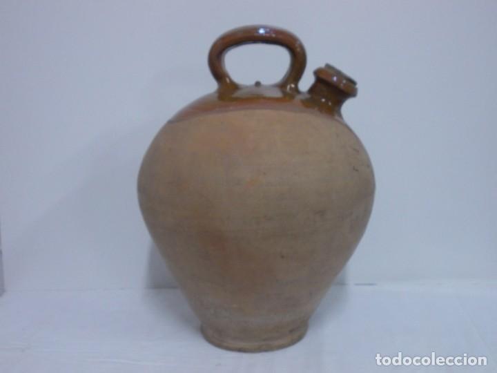 Antigüedades: GRANDIOSO CANTARO CATALAN BARRO COCIDO- MEDIDA-BOTIJO-DOLL- - Foto 3 - 228277560