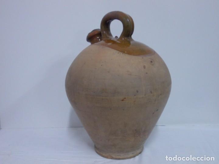 Antigüedades: GRANDIOSO CANTARO CATALAN BARRO COCIDO- MEDIDA-BOTIJO-DOLL- - Foto 6 - 228277560