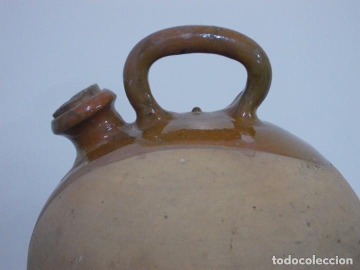 Antigüedades: GRANDIOSO CANTARO CATALAN BARRO COCIDO- MEDIDA-BOTIJO-DOLL- - Foto 7 - 228277560
