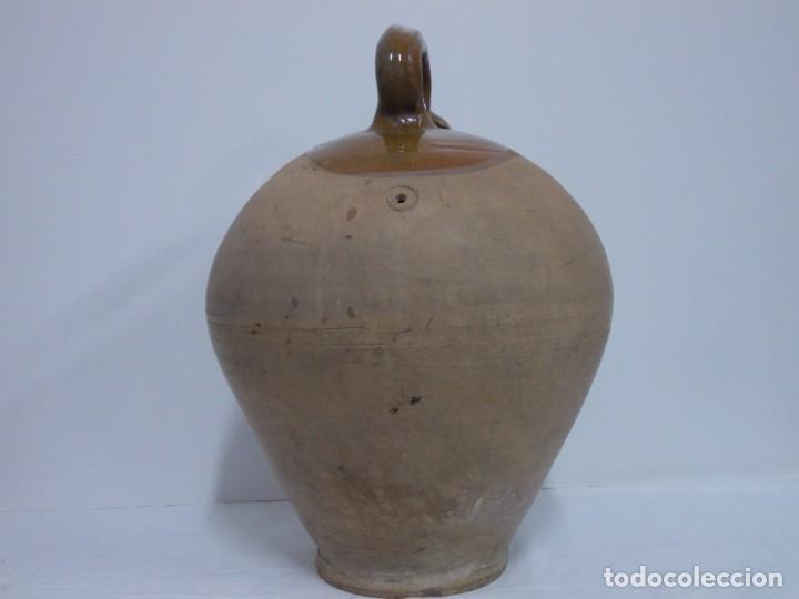 Antigüedades: GRANDIOSO CANTARO CATALAN BARRO COCIDO- MEDIDA-BOTIJO-DOLL- - Foto 16 - 228277560