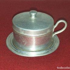 Antigüedades: TAZA DE ALUMINIO CON FILTRO. Lote 228300965