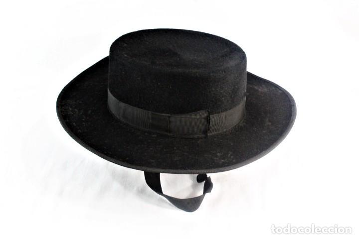 SOMBRERO SEVILLANO MAQUEDANO, SIERPES 40 CA 1900 TALLA 55 CA 1900 ORIGINAL DE ÉPOCA (Antigüedades - Moda - Sombreros Antiguos)