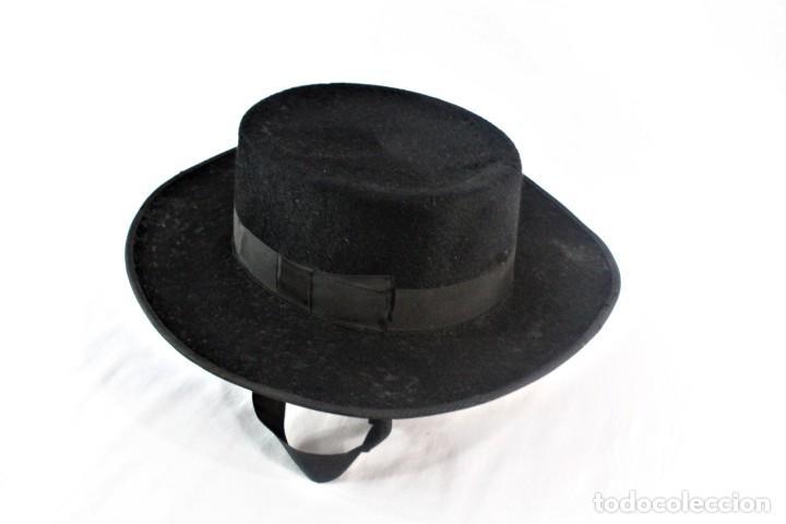 Antigüedades: Sombrero sevillano Maquedano, Sierpes 40 ca 1900 Talla 55 ca 1900 original de época - Foto 3 - 228314025