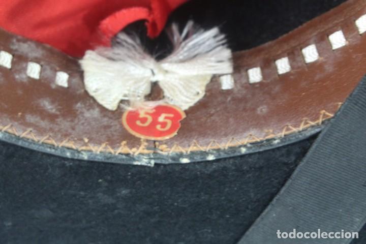 Antigüedades: Sombrero sevillano Maquedano, Sierpes 40 ca 1900 Talla 55 ca 1900 original de época - Foto 5 - 228314025