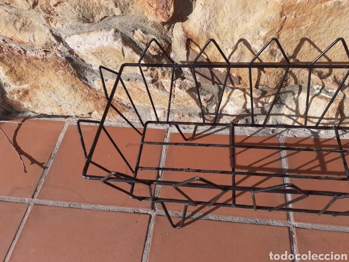 Antigüedades: JARDINERA DE METAL - REJA - MACETERO - Foto 4 - 228324258
