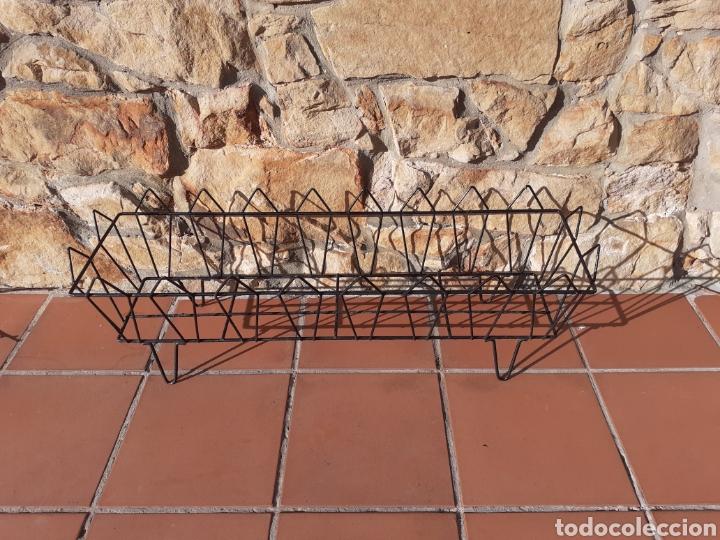 Antigüedades: JARDINERA DE METAL - REJA - MACETERO - Foto 6 - 228324258
