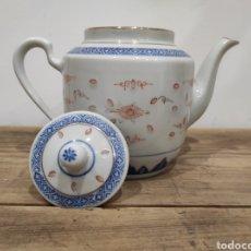 Antigüedades: TETERA / CAFETERA PORCELANA CHINA. S.XX. Lote 228327820