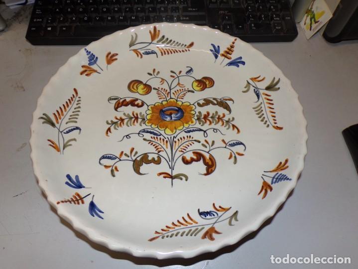 PLATO ANTIGUO DE TALAVERA LA MENORA DE 31 CM DE DIAMETRO (Antigüedades - Porcelanas y Cerámicas - Talavera)