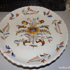 Antigüedades: PLATO ANTIGUO DE TALAVERA LA MENORA DE 31 CM DE DIAMETRO. Lote 228331155