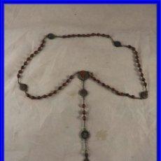 Antigüedades: ROSARIO DE PEPITAS CON LA CRUZ DE SANTIAGO Y CONCHAS. Lote 228341095