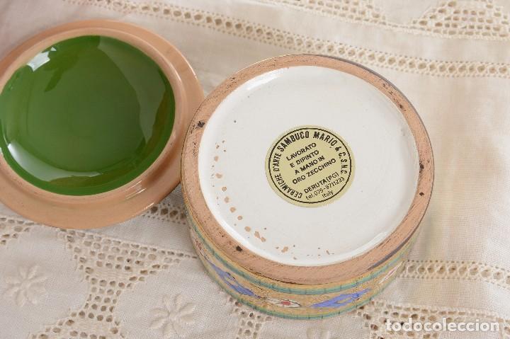 Antigüedades: Caja de ceramica vintage italiana de Sambuco Mario & Co - Foto 7 - 228346125