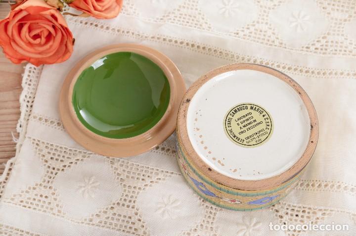 Antigüedades: Caja de ceramica vintage italiana de Sambuco Mario & Co - Foto 8 - 228346125