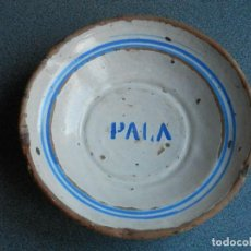 Antigüedades: PLATO CERÁMICA ALFAR MUEL ZARAGOZA SIGLO XIX ESTAMPILLADO: PALA - RARO. Lote 228395195