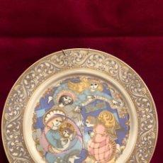 Antigüedades: PLATO PORCELANA SANTA CLARA. SAGRADA FAMILIA CON ANGEL. S. LIMITADA 100 EJEMPLARES. DIÁMETRO 26 CM.. Lote 228408565