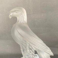Antigüedades: LALIQUE LIBERTY EAGLE CRYSTAL , ESCULTURA DE CRISTAL FIRMADA. Lote 228414245