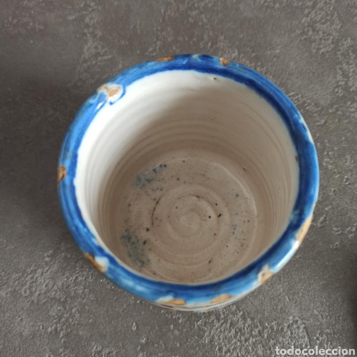 Antigüedades: Antiguo tarro bote con tapa de cerámica * Alcora - Foto 6 - 228414540