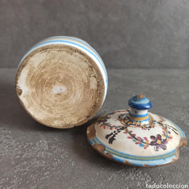 Antigüedades: Antiguo tarro bote con tapa de cerámica * Alcora - Foto 7 - 228414540