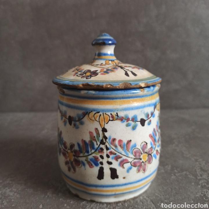 ANTIGUO TARRO BOTE CON TAPA DE CERÁMICA * ALCORA (Antigüedades - Porcelanas y Cerámicas - Alcora)
