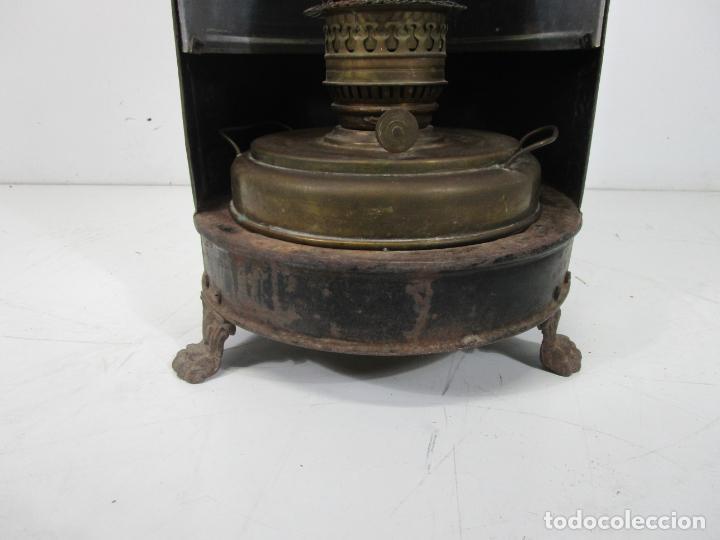 Antigüedades: Decorativa Estufa de Petróleo Antigua - Marca Sepulchre - S.XIX - Foto 2 - 228423865