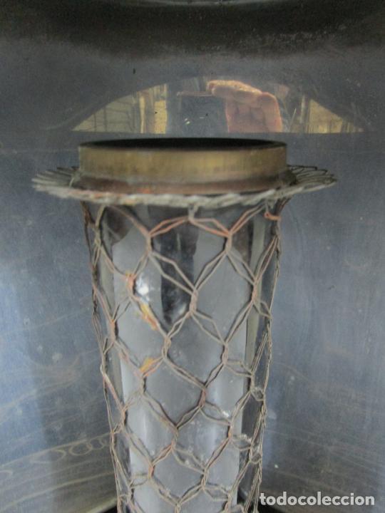 Antigüedades: Decorativa Estufa de Petróleo Antigua - Marca Sepulchre - S.XIX - Foto 8 - 228423865
