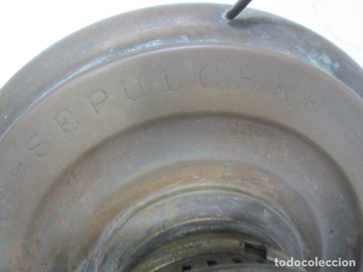 Antigüedades: Decorativa Estufa de Petróleo Antigua - Marca Sepulchre - S.XIX - Foto 13 - 228423865