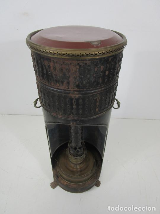 Antigüedades: Decorativa Estufa de Petróleo Antigua - Marca Sepulchre - S.XIX - Foto 16 - 228423865