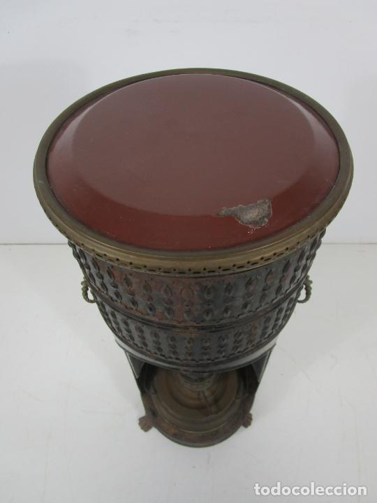 Antigüedades: Decorativa Estufa de Petróleo Antigua - Marca Sepulchre - S.XIX - Foto 20 - 228423865