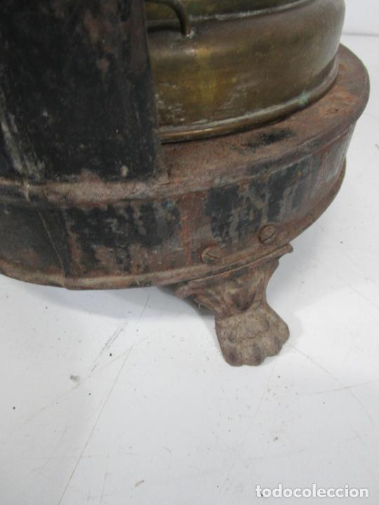 Antigüedades: Decorativa Estufa de Petróleo Antigua - Marca Sepulchre - S.XIX - Foto 23 - 228423865