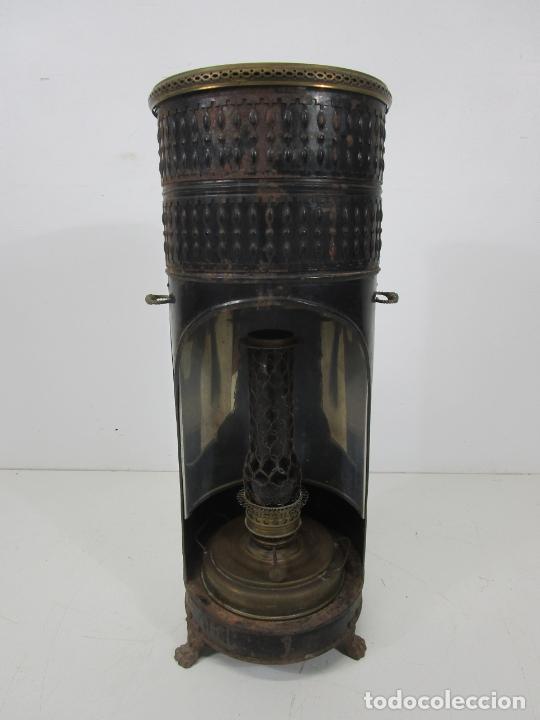 Antigüedades: Decorativa Estufa de Petróleo Antigua - Marca Sepulchre - S.XIX - Foto 30 - 228423865
