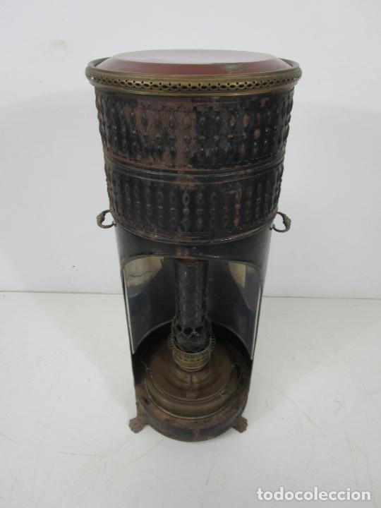 Antigüedades: Decorativa Estufa de Petróleo Antigua - Marca Sepulchre - S.XIX - Foto 31 - 228423865