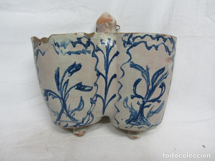 CUCHARERO ARAGONÉS EN CERÁMICA SIGLO XIX (Antigüedades - Porcelanas y Cerámicas - Teruel)
