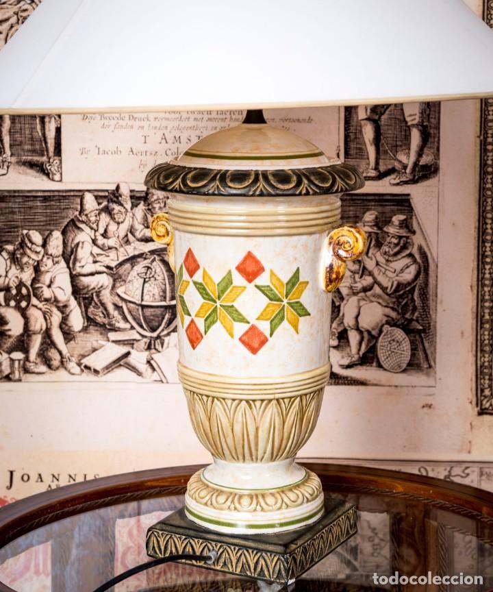 Antigüedades: Lámpara De Sobremesa Benlloch - Foto 2 - 228458180