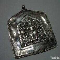 Antigüedades: ANTIGUA MEDALLA AMULETO O TALISMAN ORIENTAL...TOTALMENTE DE PLATA.. Lote 228486100