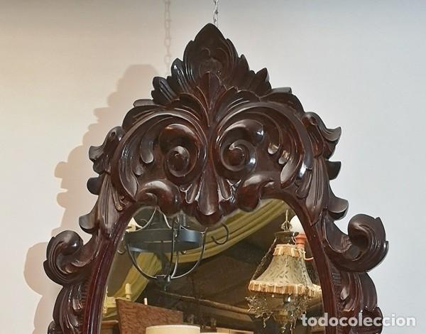 Antigüedades: Espejo Ovalado - Foto 2 - 228493465
