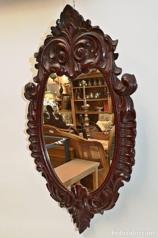 Antigüedades: Espejo Ovalado - Foto 3 - 228493465