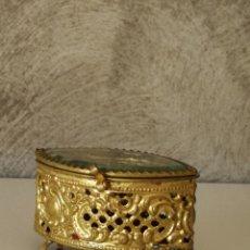 Antigüedades: CAJITA METALICA FILIGRANAS PARA RELIQUIAS. Lote 228494290