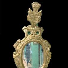Antigüedades: IMPORTANTE CORNUCOPIA, ESPEJO BARROCO DE MADERA DORADA AL ORO FINO. SIGLO XVIII. 65X33. Lote 228502305