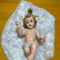Antigüedades: PRECIOSO ANTIGUO NIÑO JESÚS OLOT BELÉN PESEBRE NACIMIENTO NAVIDAD. Lote 228504525