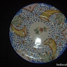 Antigüedades: GRANDE PLATO EM CERAMICA DE RIBESALBES OU MANISES - SÉC XIX. Lote 228505420