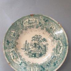 Antigüedades: PLATO CERÁMICA HONDO SACAVEN VERDE. Lote 228549405