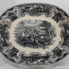 Antigüedades: INUSUAL FUENTE,BANDEJA DE LA FABRICA LA AMISTAD,CARTAGENA,(MURCIA),S.XIX. Lote 228561848