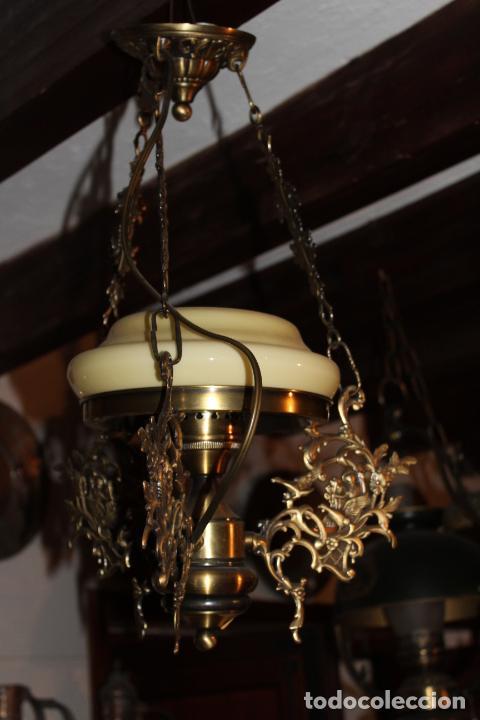 Antigüedades: lampara quigue de techo - Foto 4 - 228573055